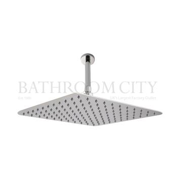 Square SS Shower Head 400mm & Arm