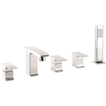 CHROME multi function 5 Hole Shower Mixer Taps