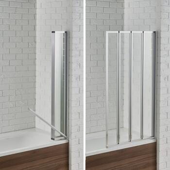 Swiftseal 4 Fold Bath Screen 6mm - 178422