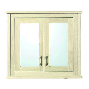Thurlestone Wall Cabinet With 2 Doors Wood/Mirror Glass Doors (Hand Painted Finishes) Contemporary double