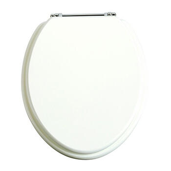 Traditional Toilet seat White Gloss Contemporary Bathroom