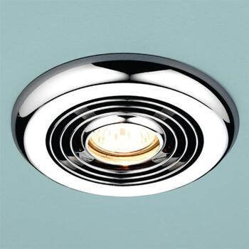 Turbo Inline Bathroom Extractor Fan Chrome
