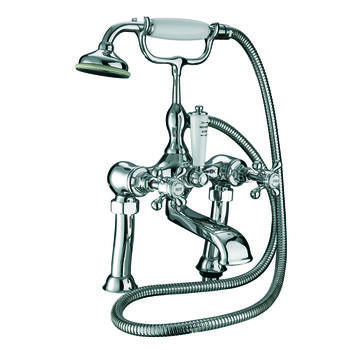 luxurious CHROME standard bath taps with shower head cross head Handle