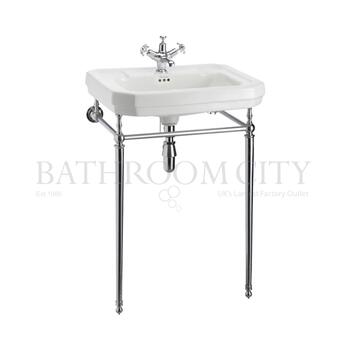 Victorian Basin 61cm And Chrome Washstand