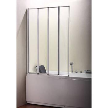 Volente 1000 4 Fold Screen Silver Modern Bathroom