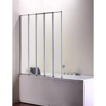 Volente 1250 5 Fold Screen Silver High Quality Bathroom