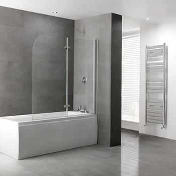 Volente 1550 Bi-fold Folding D Shape Bath Screen