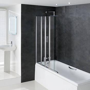 Volente Extended Folding Square Bath Screen