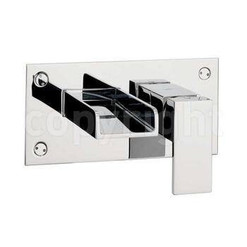Water Sq Basin 2 Hole Set No Waste Wall Mounted Taps cross head spout Designer