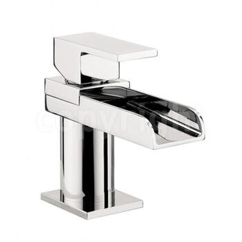 Modern stylish CHROME waterfall Basin tap With a lever Handle