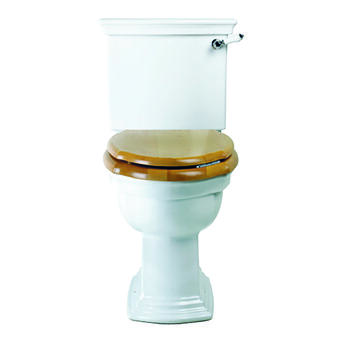 Westminster Close Coupled Pan With Push Button And Seat curved
