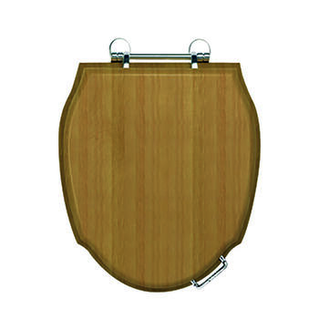 Westminster Solid Wood Toilet Seat With Soft Close Hinge Chrome High Quality