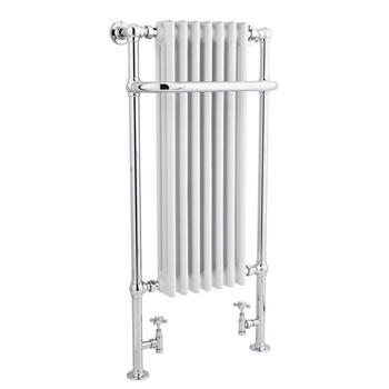 White Traditional Radiator   Flat Towel Rail