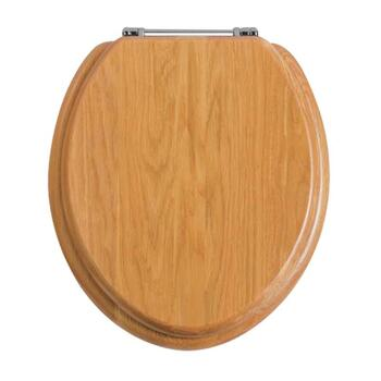 Wooden Toilet Seat Oak Chrome Seat High Quality Bathroom