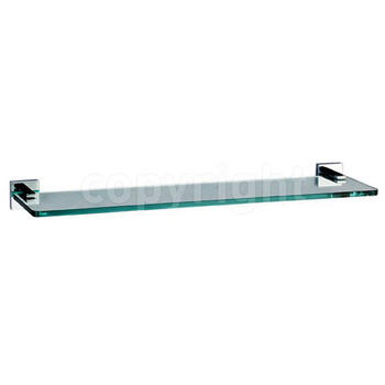 Zeya Acc Glass Shelf With Rail 500mm Chrome