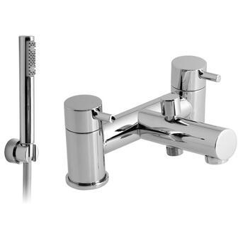 sheek Modern CHROME standard Bath Shower Mixer Taps lever Handle