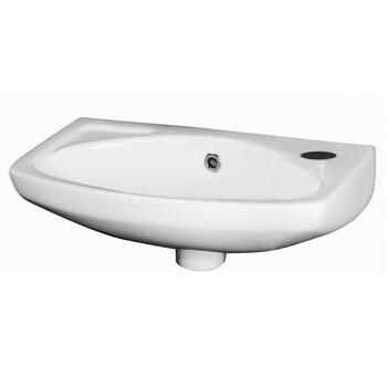 Brisbane 450MM Wall Mounted White Vitreous China Curved Wall Hung Basin