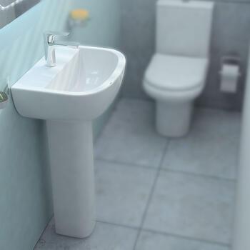 Compact 460 Washbasin & Pedestal - 20-049