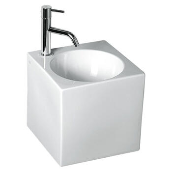 Cubo2 Ceramic Basin Wall Hung straight Designer and Stylish Bathroom Accessory