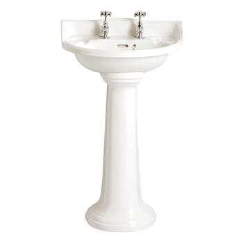 Dorchester High Quality White Cloakroom Basin With Pedestal