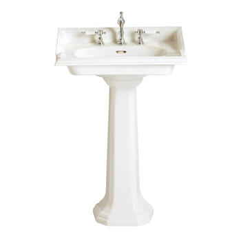 Dorchester Traditional Bathroom Design White Square Basin And Pedestal Easy To Install