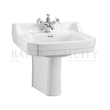 traditional Edwardian Basin 56cm and Semi pedestal