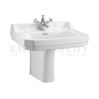 traditional Edwardian Basin 61cm and Semi pedestal