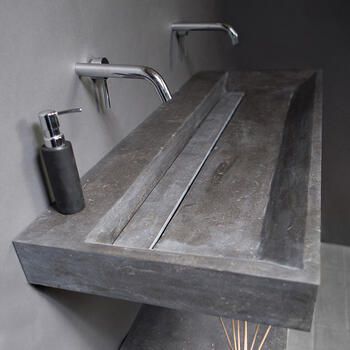 Forzalaqua Bellezza 120 Natural Stone Basin Bluestone Designer Bathroom Washbasin