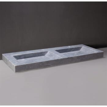 Forzalaqua Bellezza Doppio Natural Stone Basin Cloudy Marble Design for Modern Bathroom
