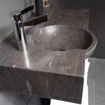 Forzalaqua Laguna Natural Stone Basin Bluestone Finish and Stylish Design Bathroom Washbasin