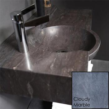 Forzalaqua Laguna Natural Stone Basin Cloudy Marble Designer Stylish Bathroom Accessory