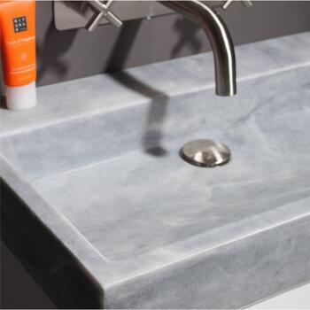 Forzalaqua Palermo 100 Natural Stone Basin Cloudy Marble Stylish Bathroom Washbasin
