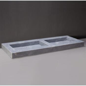 Forzalaqua Palermo Doppio Natural Stone Basin Cloudy Marble Brilliant Bathroom Washbasin