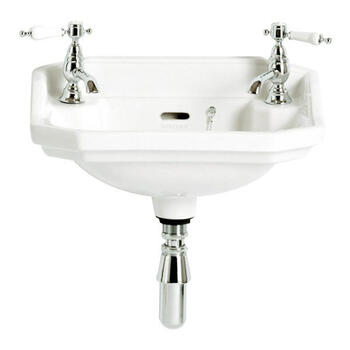 Granley White Basin Baby 2 Tap Hole Bathroom Accessory