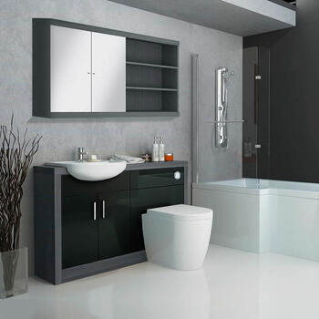 Hacienda Fitted Furniture Pack Black Bathroom