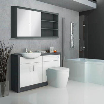 Hacienda Bathroom Fitted Furniture Pack White
