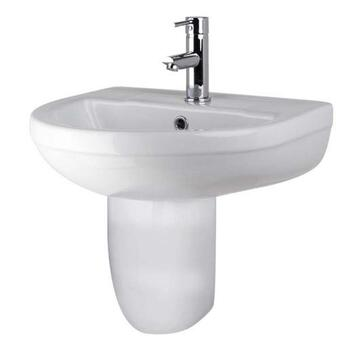 Harmony 500mm Ceramic Bathroom Wash Basin And Semi Pedastal