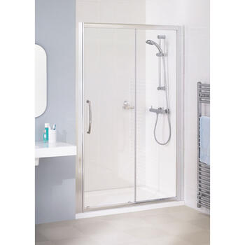 Lakes Silver Semi Framed Slider Bathroom Shower Door
