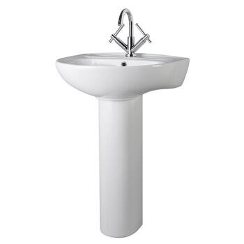 Melbourne Large Basin with One Tap Hole And Pedestal for High Quality Bathroom