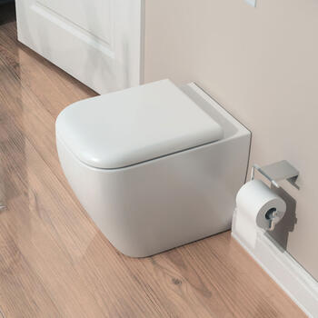 Metropolitan Back To Wall Toilet & Soft Close Seat straight High Quality