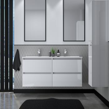 Double vanity unit bathroom furniture
