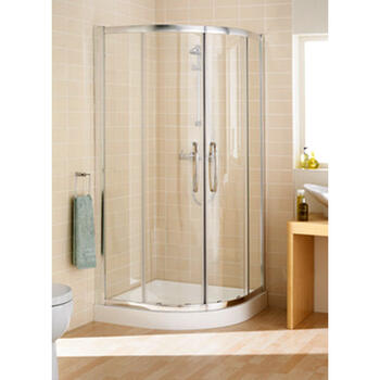 Silver Semi Framed Single Rail Quadrant Amazing Value Stylish Bathroom Accessory