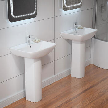 Summit 600 Basin and Pedestal straight Modern