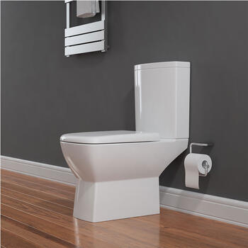 Summit Close Coupled Toilet & Seat straight High Quality