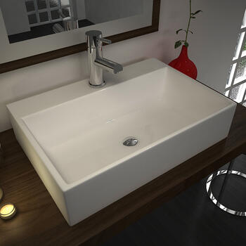 Tanke Porcelain Wash Basin Straight Stylish Counter Top Unique Design Bathroom Accessory