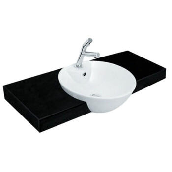 Titanio Round Semi-recessed Basin