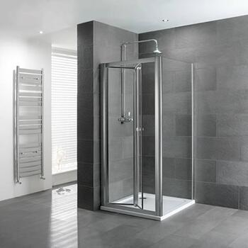 Volente bifold Door Silver Shower Enclosure Luxurious Stylish Bathroom Accessory
