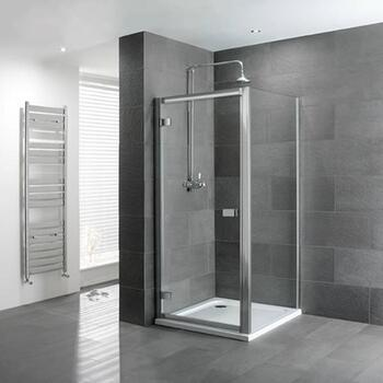 Volente hinge Door Silver Shower Enclosure Stylish Bathroom