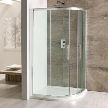 Volente offset Quad Silver Shower Enclosure Unique Design Bathroom