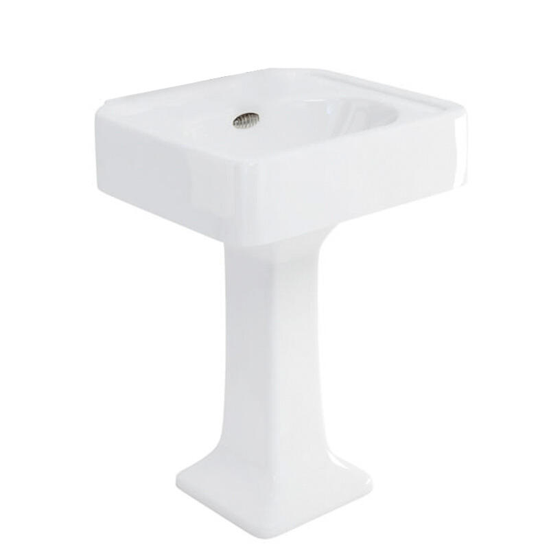 Arcade 600 basin and pedestal no tap hole